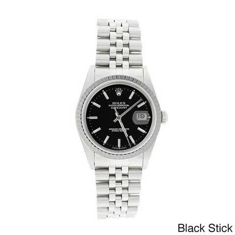 Pre-owned Rolex Men's 16220 Datejust Stainless Steel Jubilee Bracelet Watch