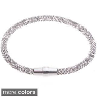 Blue Box Jewels Diamond-cut Magnetic Clasp Bracelet