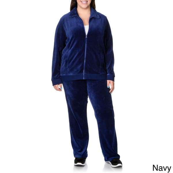 La Cera Women S Plus Size 2 Piece Sweat Suit Overstock 9290457