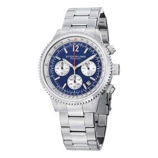 Stuhrling Original Men's Stainless Steel Bracelet Monaco  Chronograph Watch