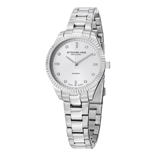 Stuhrling Original Women's Swiss Quartz Allure Stainless Steel Bracelet Watch