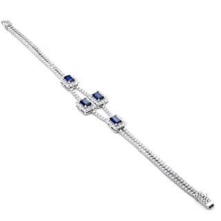 Blue Box Jewels Deep Ocean Blue Rectangle Shape Bracelet