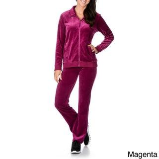 La Cera Women's Two-piece Sweat Suit