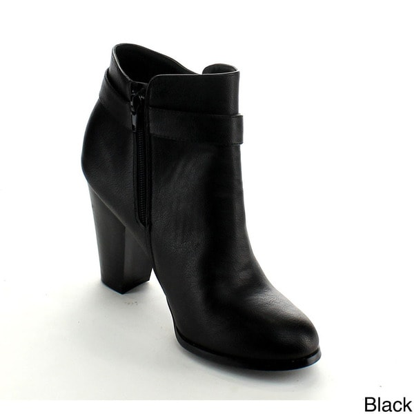 Betani Women's 'Mia-1' Chunky Heel Ankle Booties. Opens flyout.