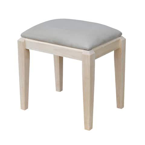 Unfinished Upholstered Vanity Bench