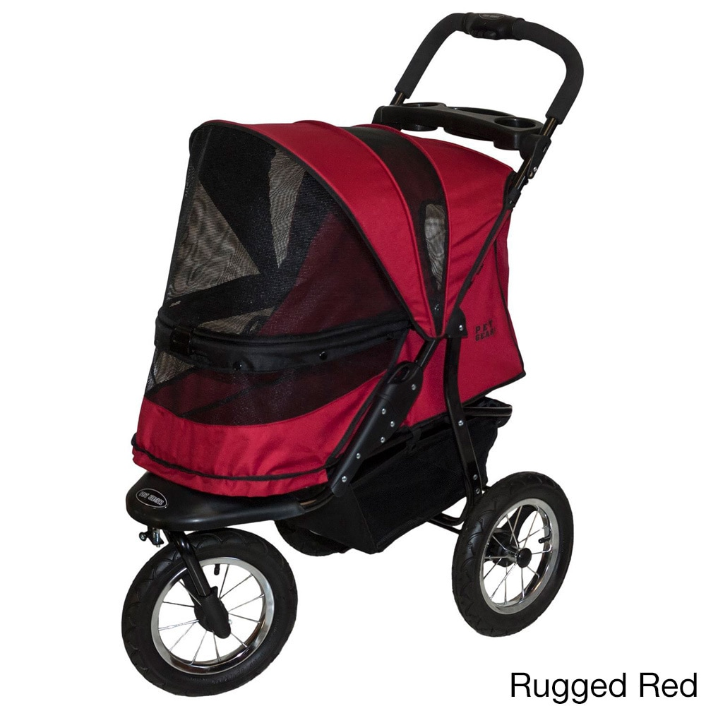 Pet Gear No-zip Jogger Pet Stroller (Rugged Red), Size Me...
