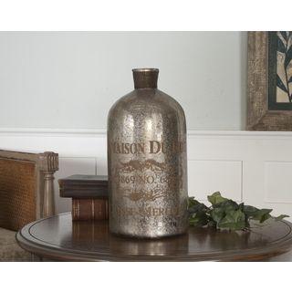 Uttermost Lamaison Large Mercury Glass Bottle