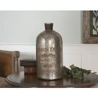 Uttermost Lamaison Large Mercury Glass Bottle
