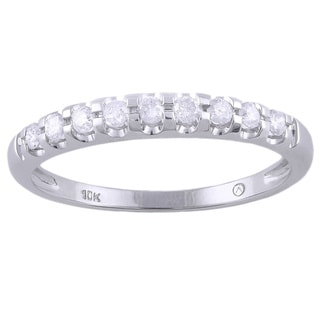 10k White Gold 1/5ct TDW Diamond Anniversary Band Ring