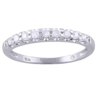 Beverly Hills Charm 10K White Gold 1/5ct TDW Diamond Band Ring (H-I, I2-I3)