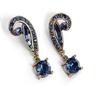 Sweet Romance Art Deco Vintage Hollywood Crystal Earrings