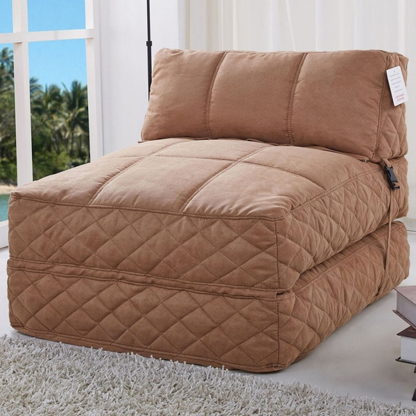 Shop Austin Cobblestone Bean Bag Chair Bed Free Shipping