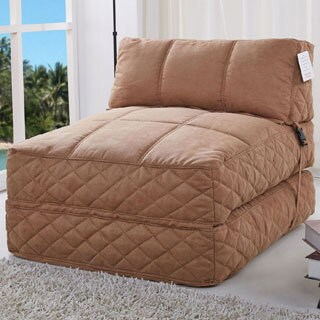 Austin Cobblestone Bean Bag Chair Bed