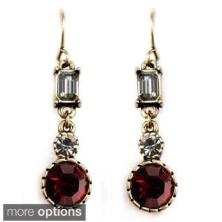 Sweet Romance Vintage Baguette Deco Crystal Earrings