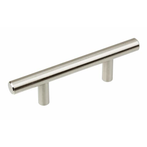 GlideRite 5-inch Solid Stainless Steel Finish 2.5 inch CC Cabinet Bar Pulls (Pack of 10)