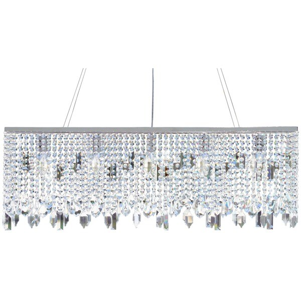 40 Inch Chrome Crystal Chandelier - Free Shipping Today ...