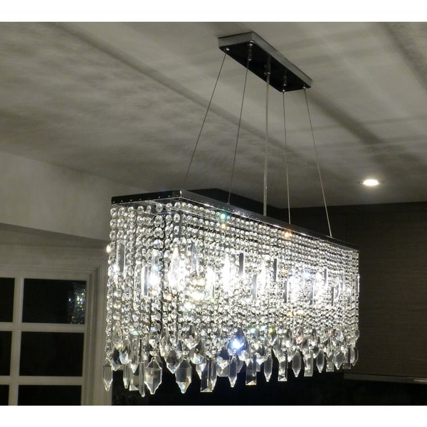 40 Inch Chrome Crystal Chandelier