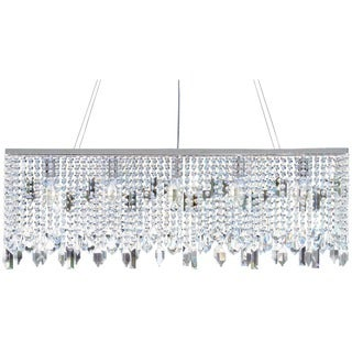 Chrome Finished 40-inch Crystal Chandelier