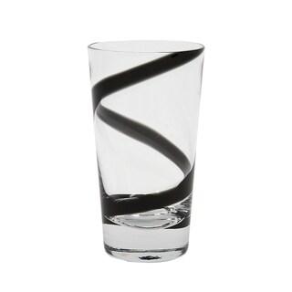 IMPULSE! Crazy Highball Black Glass (Set of 4)