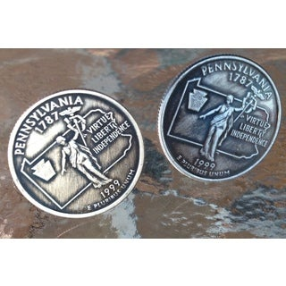 Handmade Pennsylvania State Quarter Cufflinks
