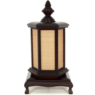 Handmade 18-inch Walnut Puggi Lamp (China)