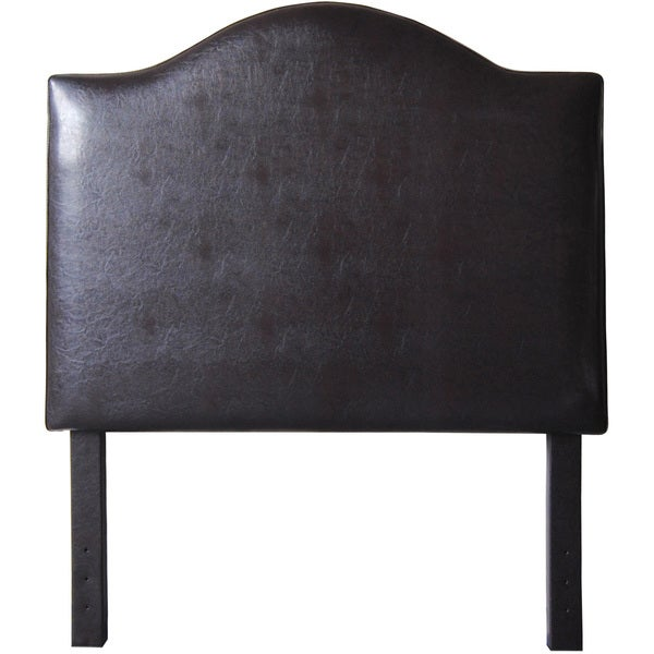 Royal Comfort Traditional Twin-size Faux Leather Headboard with Nail Head Trim