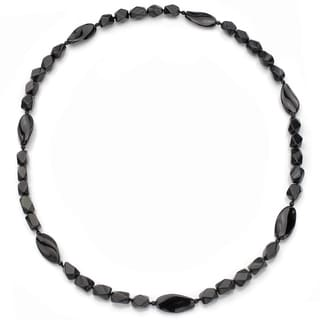 DaVonna Black Onyx 30-inch Endless Necklace