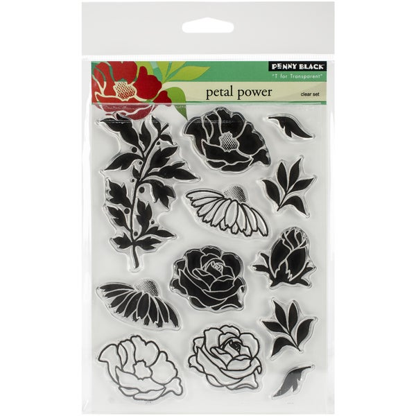 "Penny Black Clear Stamps 5""X6.5"" Sheet -Petal Power"