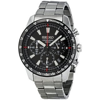Seiko Men's SSB031P1 Chronograph Black Watch
