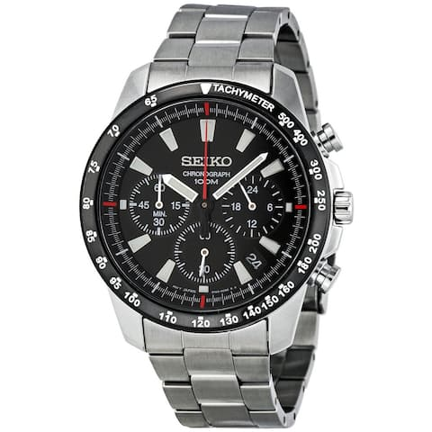 Seiko Men's Chronograph Black Watch