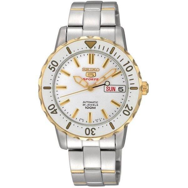 Shop Seiko Women S Automatic Two Tone White Watch Overstock 9290975
