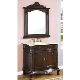 ICA Furniture Terra Single Sink Bathroom Vanity with Mirror