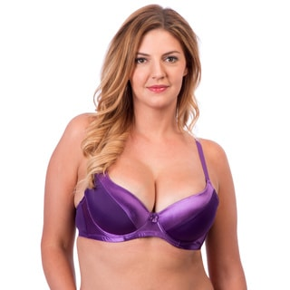 24/7 Frenzy Women's DD Solid Microfiber Bra with Satin Trim (Pack of 6)