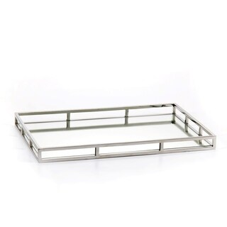 """Venturi"" 22"" Long Mirrored Decorative Tray, Rectangular Shape"