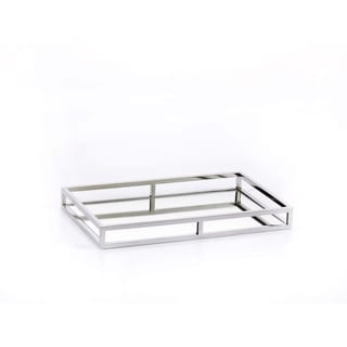 """Venturi"" 16"" Long Mirrored Decorative Tray, Rectangular Shape"