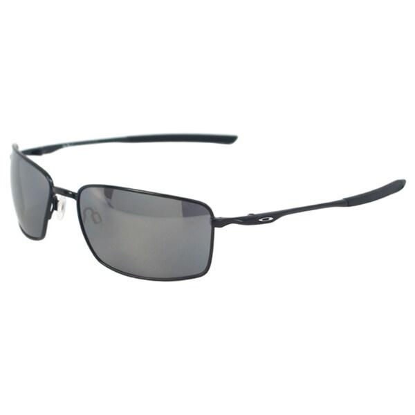 e9aec639b0 Shop Oakley Men s  Square Wire OO4075-01  Polished Black  Black ...