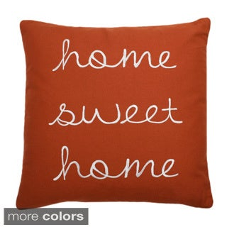 Shop Home Sweet Home Feather Fill 18 Inch Throw Pillow