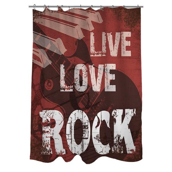 Shop Live Love Rock Shower Curtain