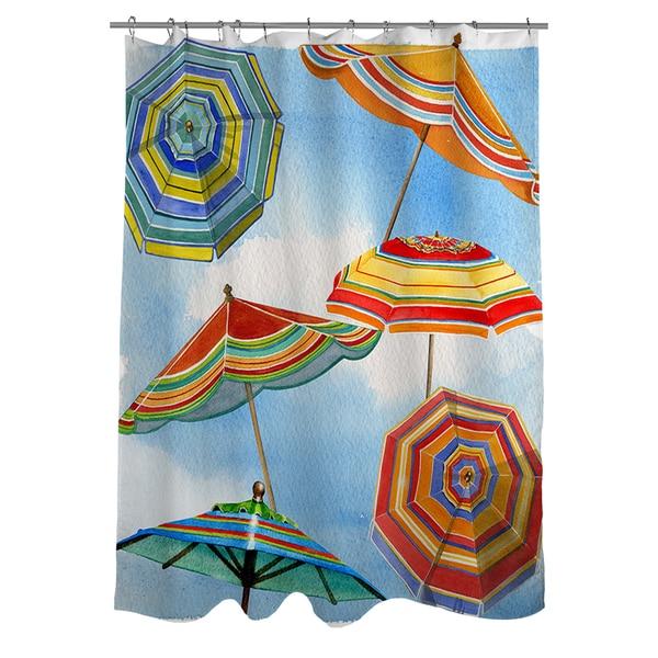 Blue Skies Umbrellas Shower Curtain