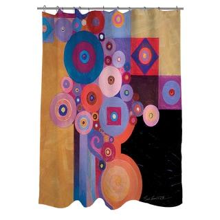 Thumbprintz Peg and Spokes Gear Shower Curtain