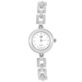 JWI Women's Silvertone Diamond Accent Watch