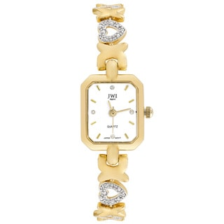 JWI Women's Goldtone Diamond Accent Watch