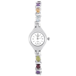 JWI Women's Brass and Gemstone Watch