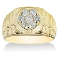 14k Yellow Gold Mens 4/ 5ct TDW Diamond Ring