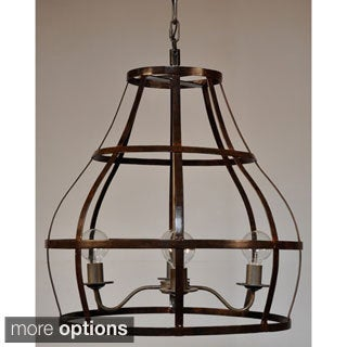 Cage Shaped Metal Pendant