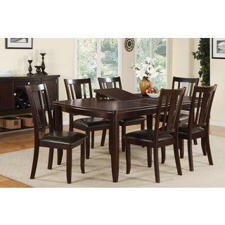 Ortaca Deep Brown Wood Finished 7-piece Dining Set