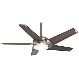 Casablanca 54-inch Stealth DC Brushed Nickel Ceiling Fan
