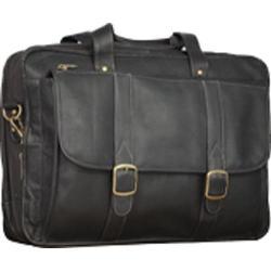Men's David King Leather 100 Expandable Laptop Briefcase Cafe