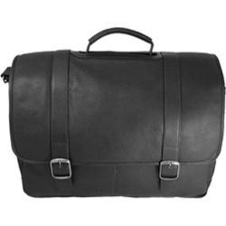 David King Leather 142 Porthole Laptop Briefcase Black