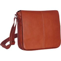 David King Leather 164 Laptop Messenger Bag Tan